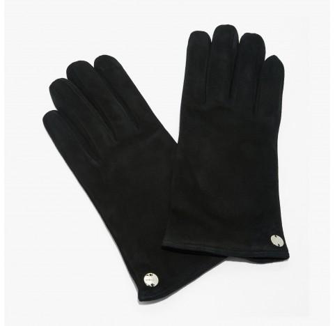 Γάντια Coccinelle suede Μαύρα