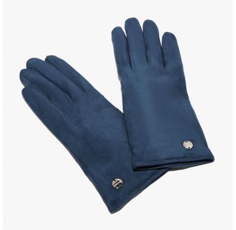 Γάντια Coccinelle suede Μπλέ