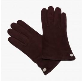 Γάντια Coccinelle Suede Μπορντό