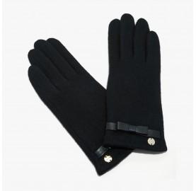 Γάντια Coccinelle μάλλινα μαύρα