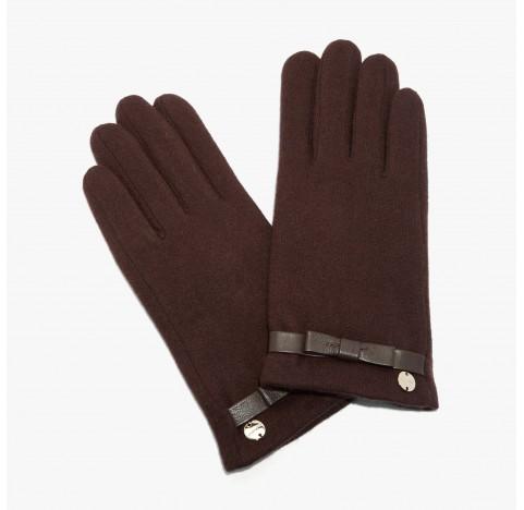 Γάντια Coccinelle μάλλινα καφέ