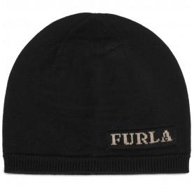 Σκούφος Furla Eva μάλλινος Μαύρο