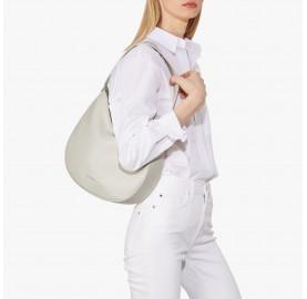 Τσάντα Coccinelle Alpha Medium Λευκή