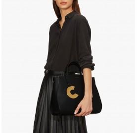 Τσάντα Coccinelle Concrete Medium Μαύρη
