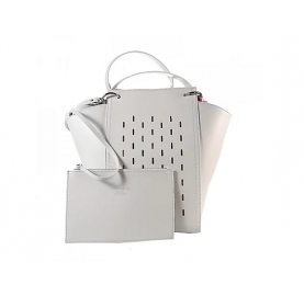 Τσάντα Coccinelle Madelaine Perfo Λευκή