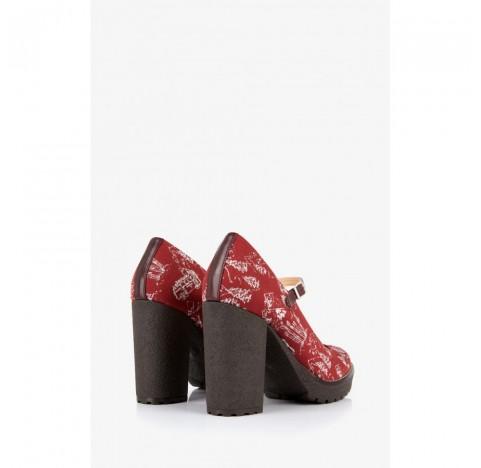 Παπούτσια με μπαρέτα Mellow Yellow Epija Μπορντό